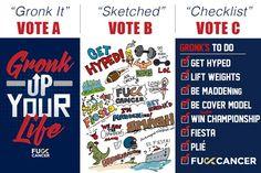 gronk helps #letsfightcnacer pick favorite shirt design