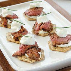 Beef Teriyaki Crisps with Wasabi Mayonnaise | CookingLight.com