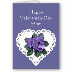 Mom African Violet Flower Valentine Poem