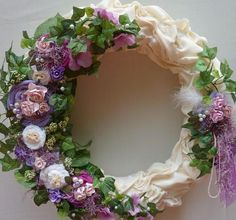 Handmade Wreath Wedding Wreath  Victorian Wreath  by atopdrawer
