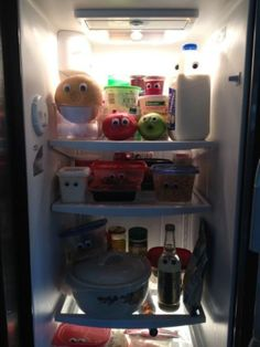 being bored at home :P funny stuff this isn't actually my fridge though but it's an idea should i become bored again tomorrow haha