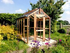 Chartley Cedar Greenhouse House, Clear Stained