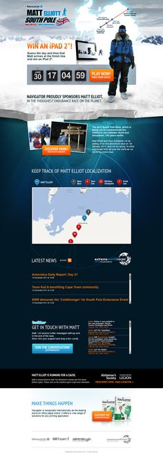 Navigator South Pole Promotion on Web Design Served