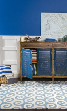 Blue Rustic Chest