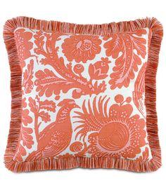 Resistance Orange Pillow. Scalamandre Maison by Eastern Accents. Meander Program