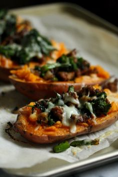 Healthy Roasted Sweet Potato Recipe with Turkey Sausage, Broccoli Rabe and Cheddar Cheese - so easy and quick!