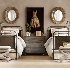 A little industrial for my taste.... but I love the vintage beds.