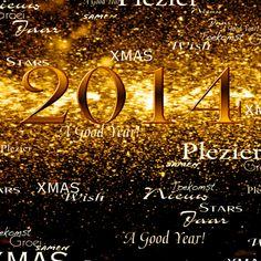 Kerstkaarten - bruisend 2014 gouden feestdagen