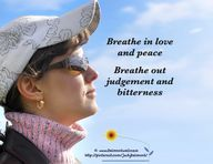 Breathe in peace and love