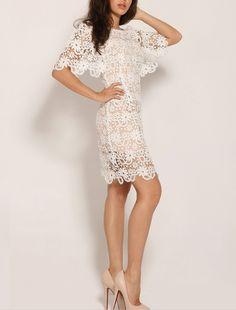 CRAZE-White-Crochet-Floral-Dress by Craze - Get 50% Off Via CouponCodes