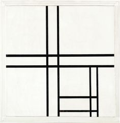 likeafieldmouse:  Piet Mondrian - Composition in Black and White, with Double Lines (1934)