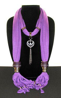 Lavender Necklace Scarf