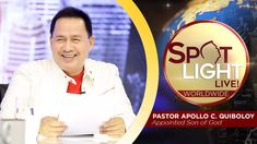 Another episode of Pastor Apollo C. Quiboloy's newest program, SPOTLIGHT. For your messages and queries, you can comment it down below so our Beloved P. Disciple Me, Kingdom Of Heaven, T Lights, New Program, Son Of God, Apollo, Spotlight, Worship, Sons