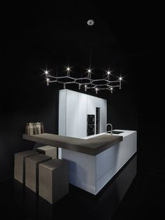 Corian® kitchen with island ONE | Corian® kitchen - RIFRA