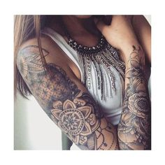 99+ Amazing Female Tattoo Designs (8) Tattoos for Women ❤️ liked on Polyvore featuring accessories and body art