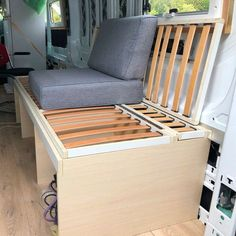 Perfect multi-purpose DIY build for a campervan. I love how much space you can save by building a bed that turns into a couch! #vanlife