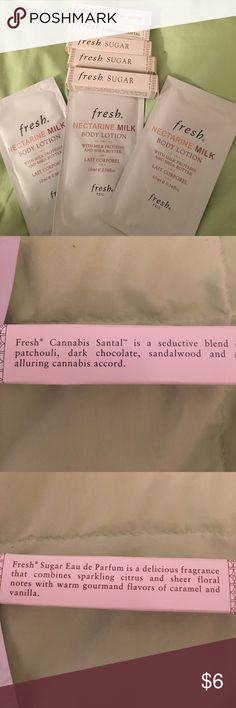 Fresh Sugar Body Lotion and Perfume samples Never used. Fresh Makeup