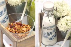 Inspiring picture breakfast, cereals, drink me, food, milk. Resolution: Find the picture to your taste! Drink Me, Food And Drink, Granola, Scones, Pasta Salad, Cereal, Milk, Breakfast, Ethnic Recipes