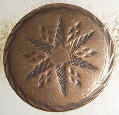 18 th Century 1700's Colonial HUGE Coat 1 Piece Copper Button SUPER RARE !!!!!!!  SOLD $112.50