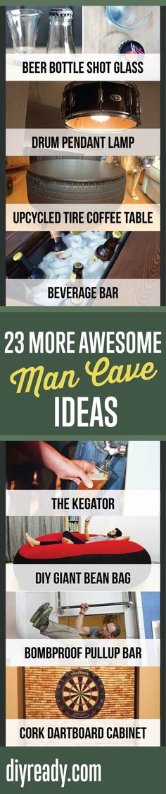 23 More Awesome Man Cave Ideas   Cool Ideas For Your Man Cave By DIY Ready. http://diyready.com/23-more-awesome-man-cave-ideas/