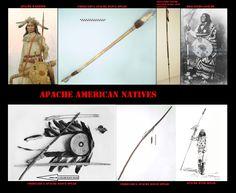Lance Apache. Le lance erano armi da guerra, avevano anche un valore simbolico, per questo rientravano tra i paramenti delle danze rituali