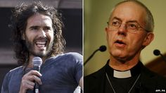 Russell Brand, Justin Welby -the Bishops hope their letter will counteract Russell Brand's call not to vote.