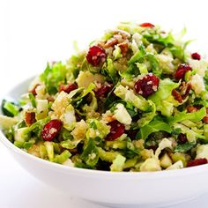 Brussels Sprouts, Cranberry & Quinoa Salad- quick and easy for the holidays, naturally vegan and gluten-free, and super delicious!