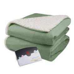 Shop for Pure Warmth Velour Sherpa Electric Heated Warming Blanket Twin Sage Green. Get free delivery On EVERYTHING* Overstock - Your Online Fashion Bedding Store! Heated Throw Blanket, Most Comfortable Sheets, Online Bedding Stores, Affordable Bedding, Warm Blankets, Blanket Sizes, Cool Beds, Fashion Room