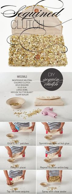 Dear readers, Today I have for you guys a compilation of some of the best DIY clutch ideas. Doens't everbody enjoy a gorgeous clutch? Diy Clutch, Diy Purse, Clutch Bags, Crossbody Bags, Tote Bag, Diy Accessories, Wedding Accessories, Clutch Tutorial, Arts And Crafts