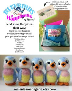Bluebird of Happiness by Melanie by MelaniesMenagerie on Etsy, $24.00