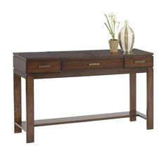 Miramar Contemporary Cherry Birch Wood Sofa Table/Desk