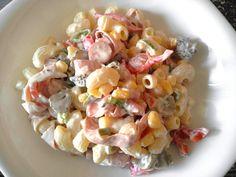 Tésztasaláta recept Pasta Salad, Pesto, Recipies, Food And Drink, Meals, Ethnic Recipes, Kitchen, Hungarian Food, Dressing