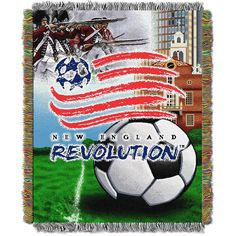 New England Revolution MLS Woven Tapestry Throw (Home Field Advantage) (48x60)