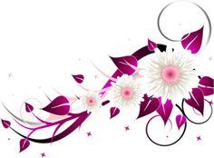 Scrapbook clipart flowers pink