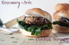 Hamburger Recipes : Rosemary Brie Chicken Burgers