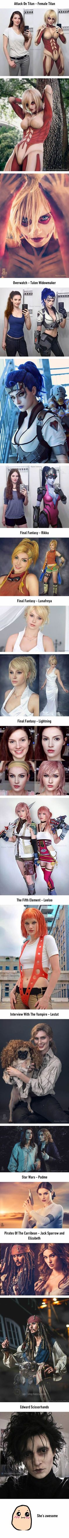 This girl's cosplays are spot-on