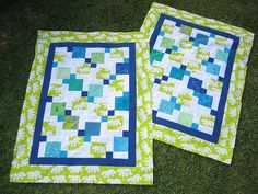 quilts for two boys - split 9-patch by jen burn.