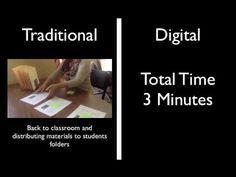 Traditional Vs. Digital Workflow using Showbie