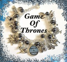 GAME of THRONES Jewelry Charm Bracelet  Houses by princessofscraps, $36.99