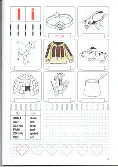 fise clasa pregatitoare Alphabet Writing, Learning The Alphabet, Alphabet Activities, Kids Learning, Math For Kids, Activities For Kids, Christmas Coloring Pages, School Lessons, Worksheets For Kids