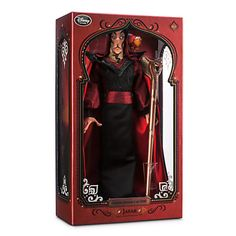 disney store jafar from aladdin limited doll 2500 new with box and certificate