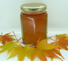 Spiced Crab Apple Jelly Made with honey 'stead of sugar. She's hot!
