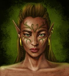 f High Elf Druid portrait forest community Now with added walkthrough! Click the thumbnail below to see how I painted this. Commissioned by ~katriona-katarina for her Dragon Age: Origins fanfic, The Wardens' Tale. Agrona Tabris: fierce and . Fantasy Rpg, Fantasy Makeup, Medieval Fantasy, Fantasy World, Fantasy Images, Fantasy Inspiration, Character Inspiration, Writing Inspiration, Character Portraits