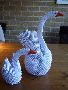 grote zwaan met kleine zwaan/small and large swan