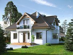 Wilga 2 (147,11 m2) to tradycyjny dom parterowy z użytkowym poddaszem. Pełna…