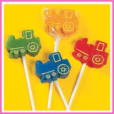 Train lollipops. (also at OTC.com)