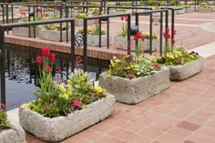 Hypertufa how-to :Heritage Garden troughs from May 2011 display. Garden Troughs, Garden Planters, Mosaic Planters, Garden Landscape Design, Garden Landscaping, Chicago Botanic Garden, Garden Painting, Decoration Table, Garden Projects