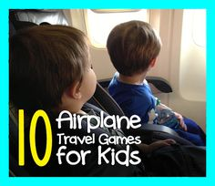 Ideas for games you can play to help distract your little ones and keep them occupied while you are flying the friendly skies