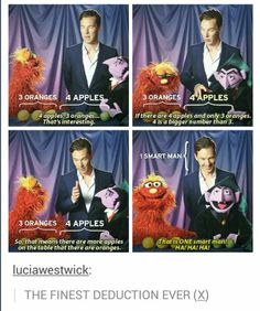 Smart man//And that, guys, is the best deduction that Benedict Cumberbatch has ever made.