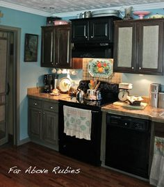 Far Above Rubies: The blue kitchen